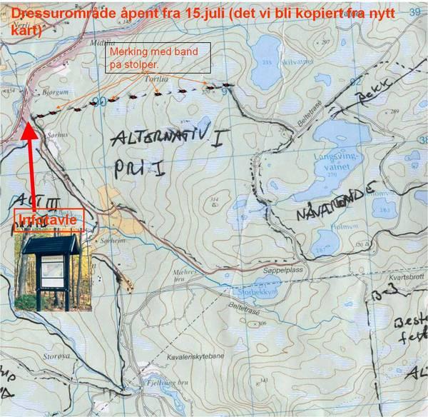 kart setermoen Treningsterreget på Setermoen   Midt Troms Fuglehundklubb kart setermoen
