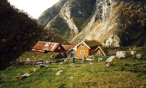 Garden Sinjarheim i Aurlandsdalen 1993 Foto:Hanna Borlaug