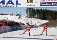 Halvard Hanevold la grunnlaget for skiskyttergruppa i Asker skiklubb. Her spurtbeseirer han Emil Hegle Svendsen i NM fellesstart 2010, og avslutter dermed sin skiskytterkarriere på landslagsnivå.