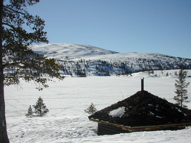 Gapahuken med Langvatnet og Raudfjellet