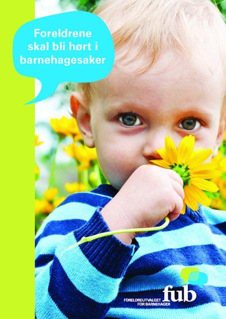 Informasjonsbrosjyre om FUB (bokmål, bilde av forsiden)
