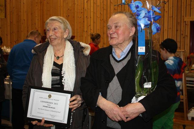 Thorleif og Lydia m prisen
