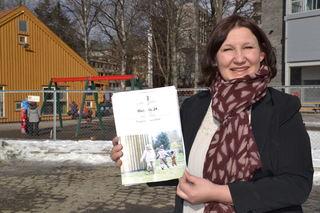 Lena Jensen med Barnehagemeldingen