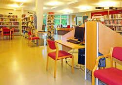 Biblioteket inne Foto Thor Andresen