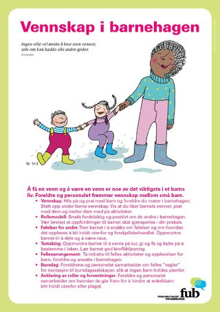 Bilde av plakaten Vennskap i barnehagen (bokmål)