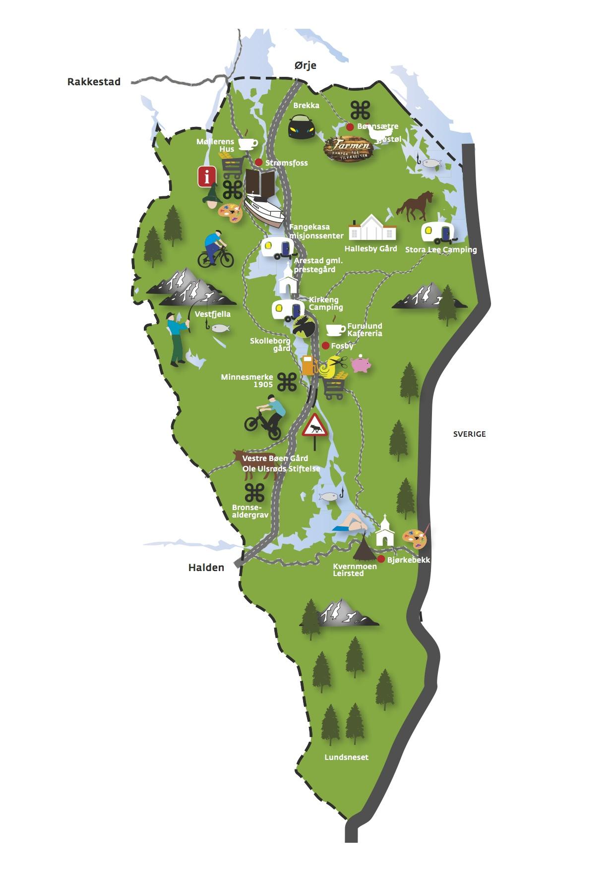 kart over aremark Det er i Aremark det skjer!   Aremark kommune kart over aremark
