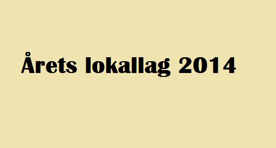 Årets lokallag 2014