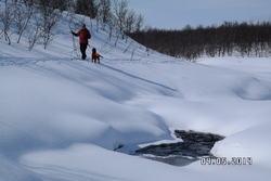 På ski langs Vansjonnas