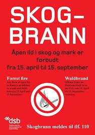 Rød varsel plakat