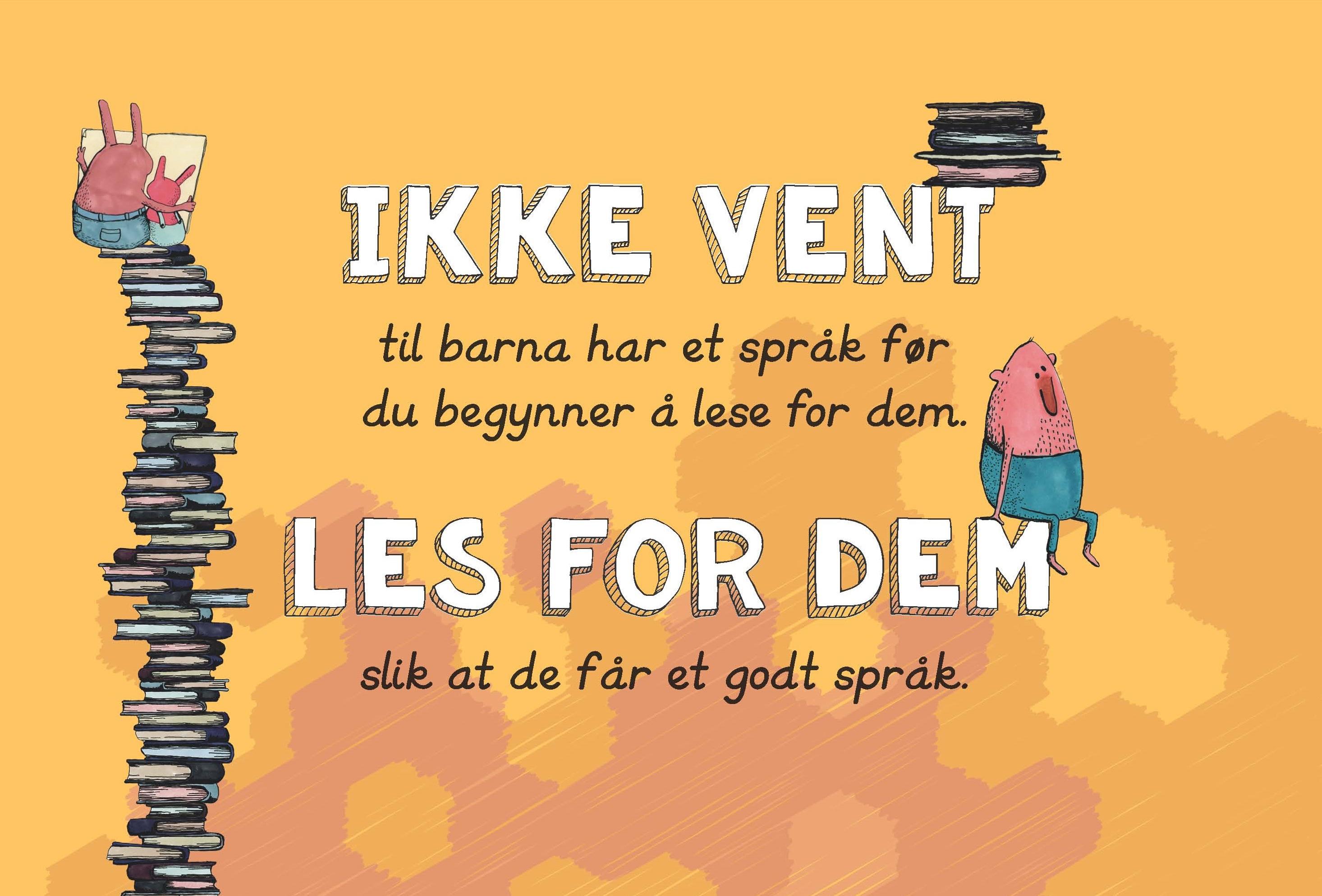 Ikke vent til barna har et språk før du begynner å lese for dem, Folder til barnehageansatte (bokmål, bilde av forsiden)