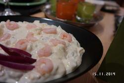 Eggesalat som tilbehør til rakfisk
