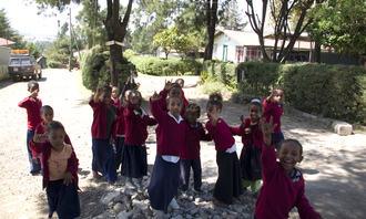 Afrikanske skolebarn