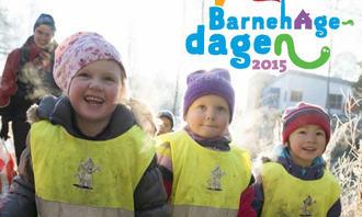 Barnehagedagen 2015 med logo og glade barn