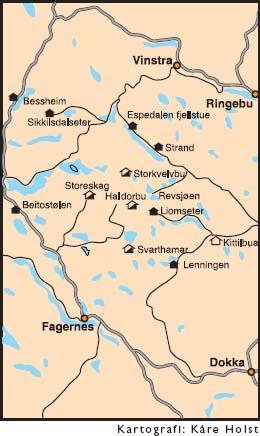 kart over gausdal vestfjell På tur i Gausdal Vestfjell   Hytteavisen kart over gausdal vestfjell