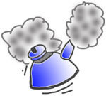 kokevarsel blå kjele