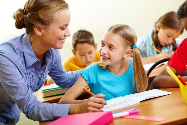 Elever og lærer