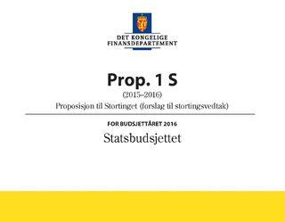 Statsbudsjettet 2016, Prop