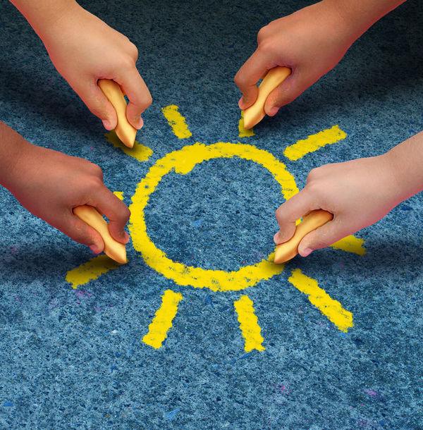 Barn: Solstråler