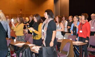 Latter i salen på Foreldrekonferansen 2015