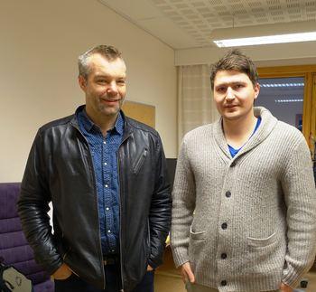 Brannsjef Reinhardt Sørensen og sivilingeniør Tor Mikkel Tokvam