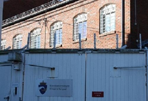 Bilde av inngang til Kragerø fengsel