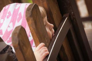 Barn ved barnehageporten