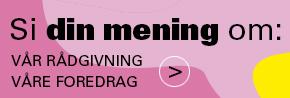 Banner med lenke til evalueringsskjma for FUBs rådgivning og foredrag