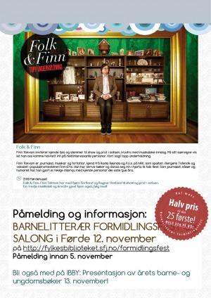 bakside programblad barnelitteraer formidlingsfest  12. 11. 14