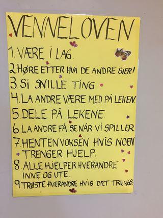 Venneloven i Vollen barnehage (Foto: Ann-Hilde Hansen