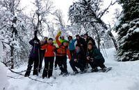 Snowshoe Trip on Tromsøya, Tromsø Outdoor, a great way to start your day!