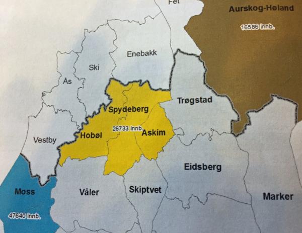 hobøl kommune kart Fylkesmannens innstilling vedrørende kommunestruktur er klar