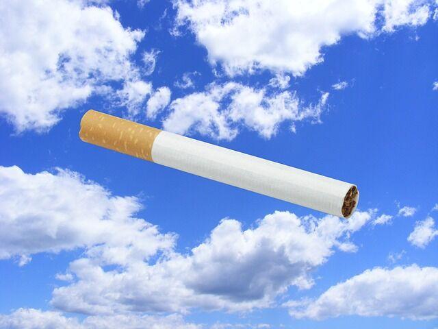 Illustrasjonsfoto av en sigarett