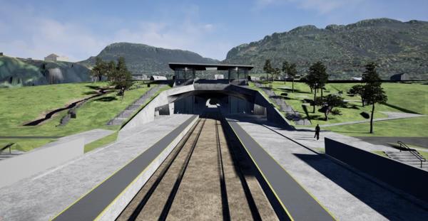 Foreløpige skisse fra Fellesprosjektet Ringeriksbanen og E16.
