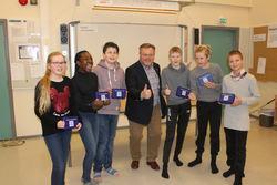Ordfører Thor Hals med vinnere