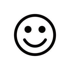 Smilefjes sort hvitt