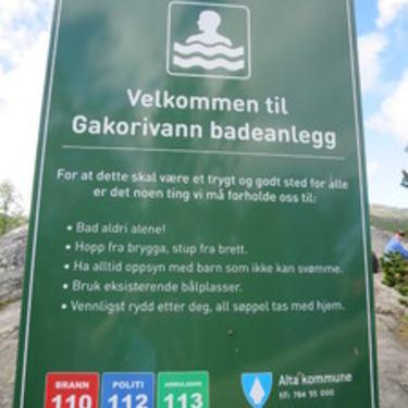 Gakorivann - informasjonsskilt