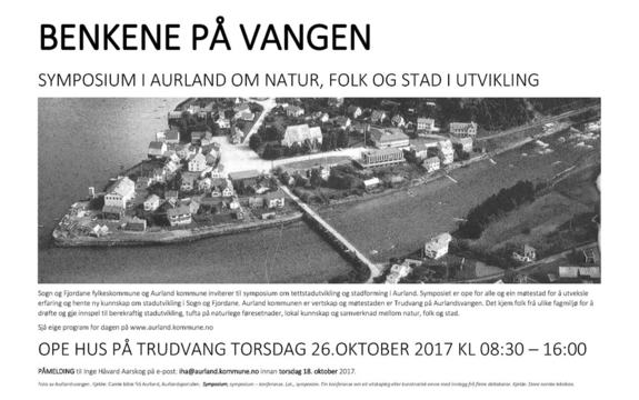 Symposium i Aurland om natur, folk og stad i utvikling 26. oktober 2017