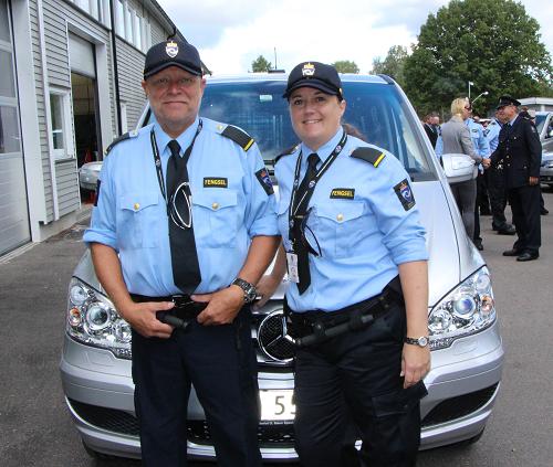 Transportbetjentene Geir Solaas og Katrine Larsen