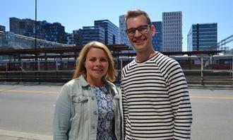 FUB-leder Marie Skinstad-Jansen og nestleder Espen Agøy Hegge