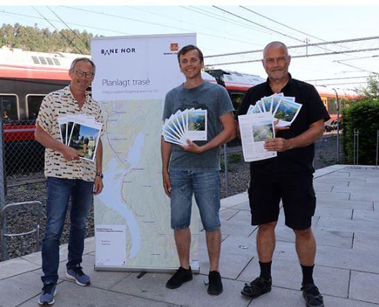 Planleggere fra Fellesprosjektet, fra venstre: Vidar Rolfsrud, Tor B. Nilsen og Börje Karlsson.