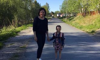 Miriam Paulsen og datteren Enny