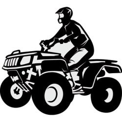 atv, firehjuling