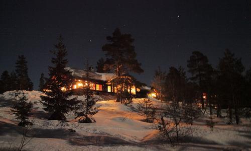 Hytte i mørke