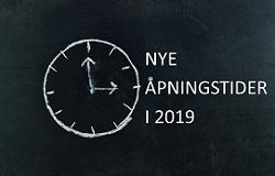 Åpningstider 2019