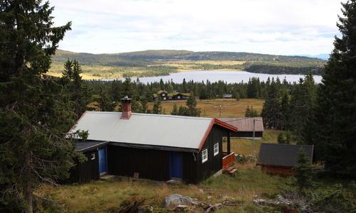 Sjusjøen - eldfre hytte oversikt