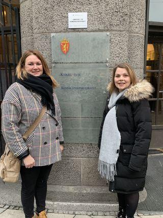 Marie Skinstad-Jansen (t.h.)  og Marianne Dahlseng i KD