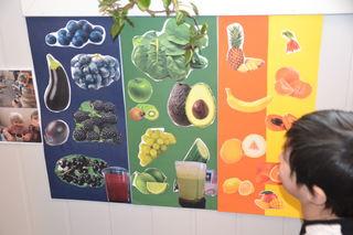 Regnbueplakat med frukt