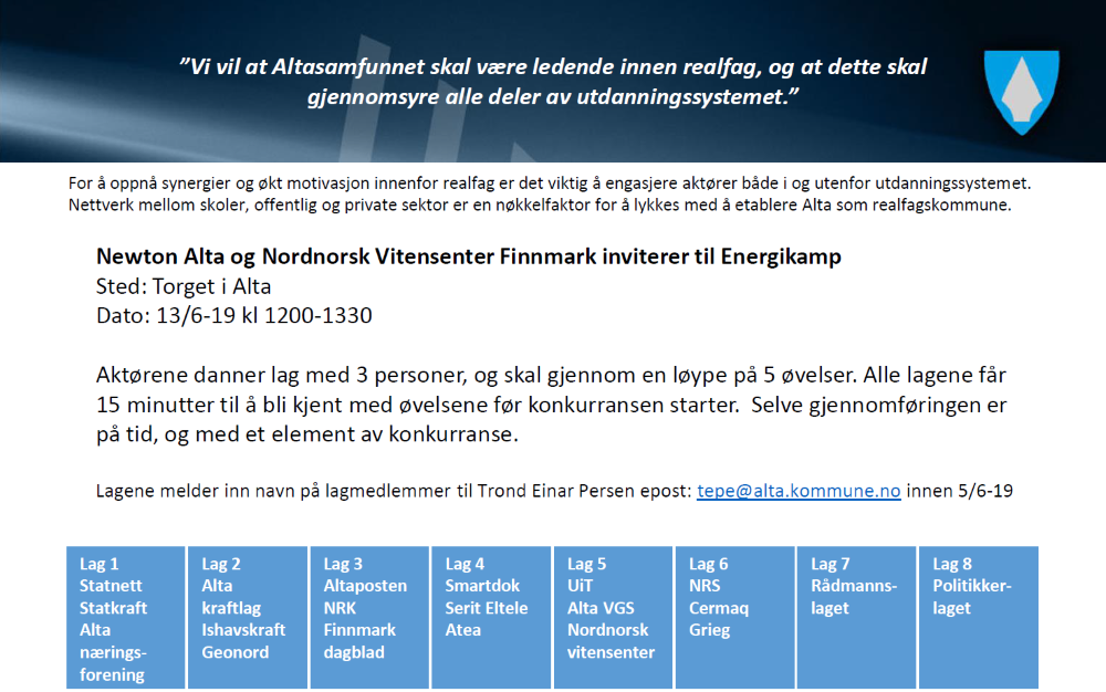 Invitasjon til Energikampen 130619