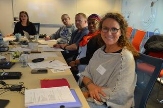 Kristin Danielsen Wolf (foran) i FUB-møte