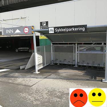 Sykkelparkeringstest